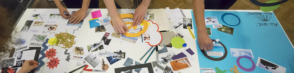 Codesign training - hands making posters